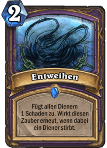 Hearthstone Erweiterung Knights of the Frozen Throne Ritter des Frostthrons Entweihen Defile