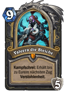 Hearthstone Erweiterung Knights of the Frozen Throne Ritter des Frostthrons Valeera die Bleiche
