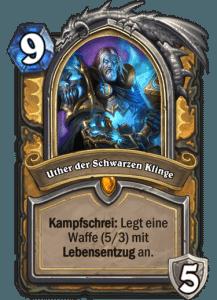 Hearthstone Erweiterung Knights of the Frozen Throne Ritter des Frostthrons Uther der Schwarzen Klinge