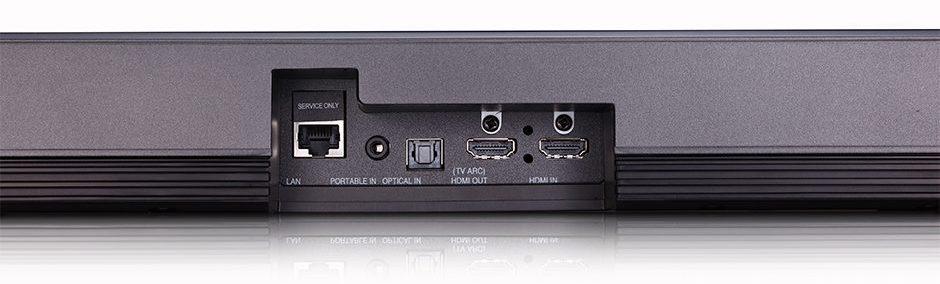 LG Soundbar SJ9 Dolby Atmos Front Gaming Heimkino Rückseite Anschlüsse