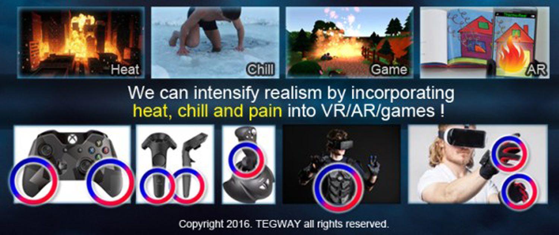 ThermoReal VR AR Virtual Reality Technik Gaming Tegway 1