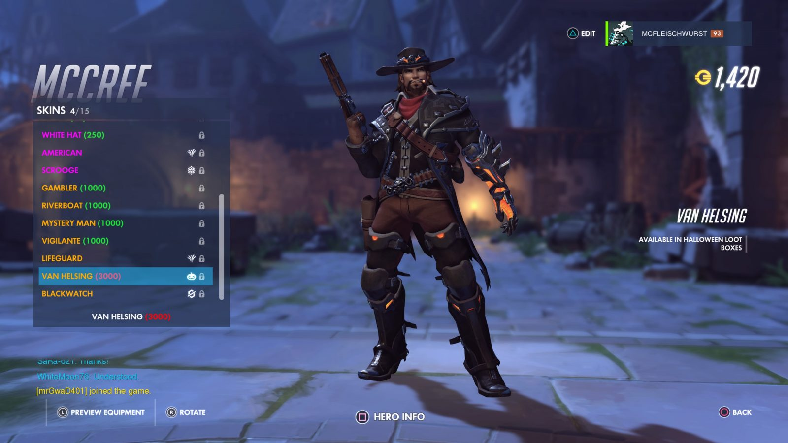 Overwatch Halloween Terror 2017 Event McCree Skin