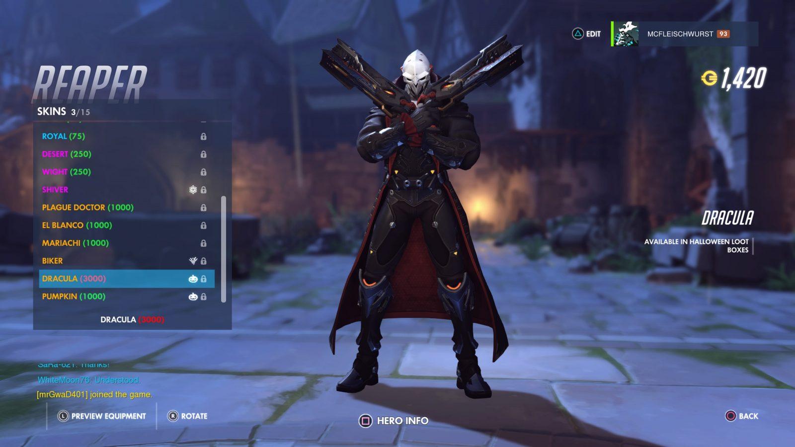 Reaper Skin Overwatch Halloween Terror Event