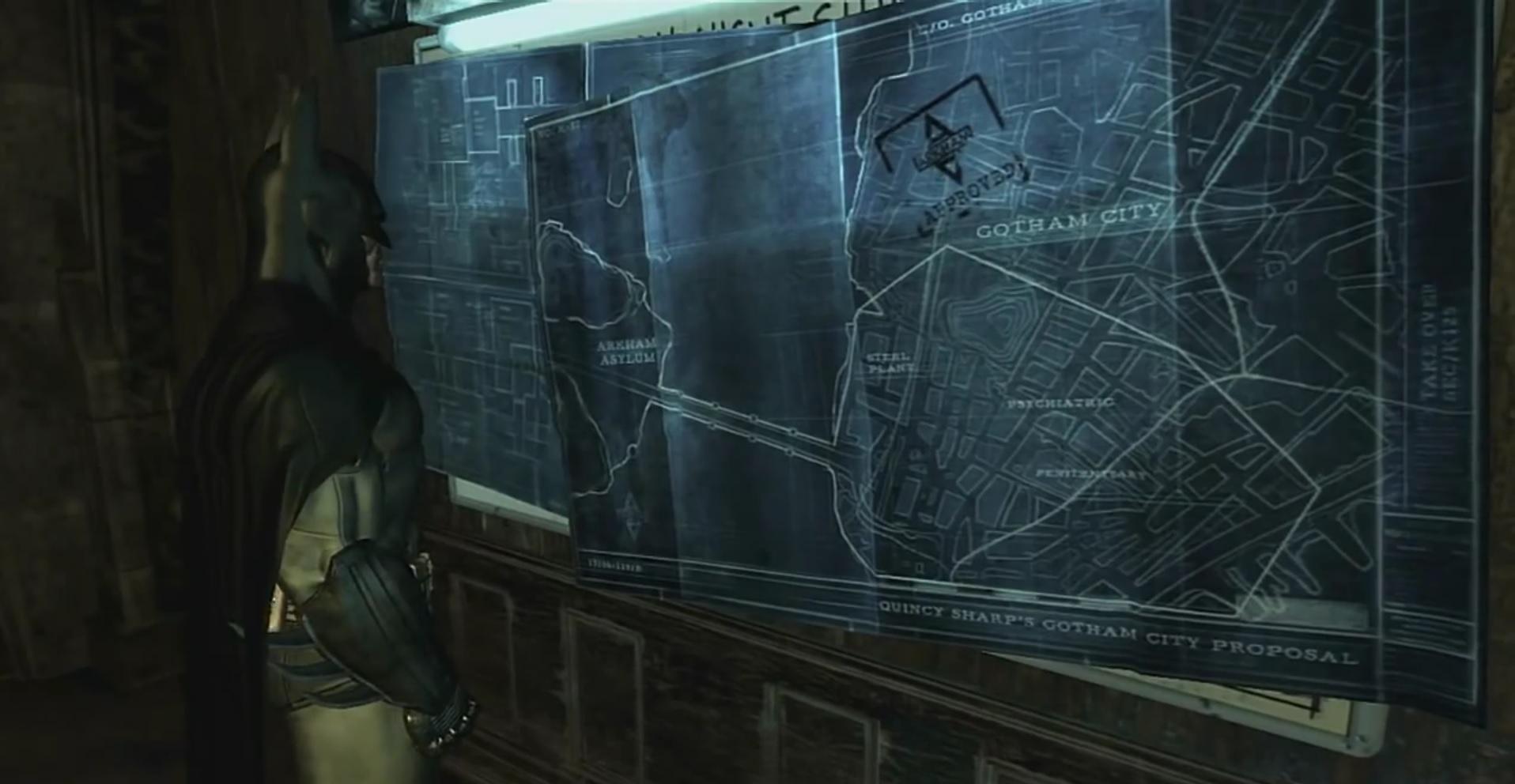 batman Arkham asylum arkham city easter egg