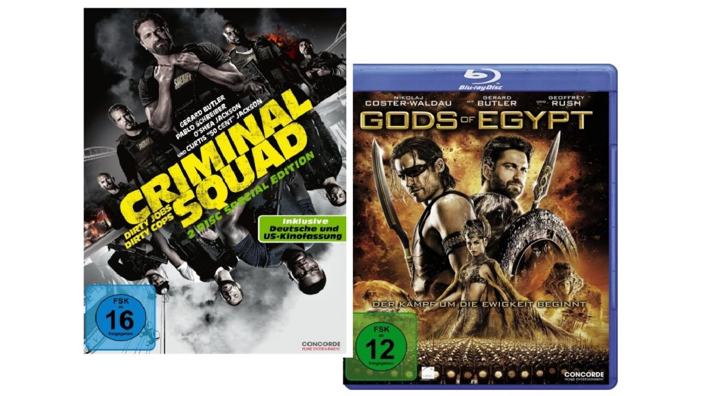 Criminal Squad Gods Of Egypt Gewinnspiel Concorde Home Entertainment Gerard Butler Titel