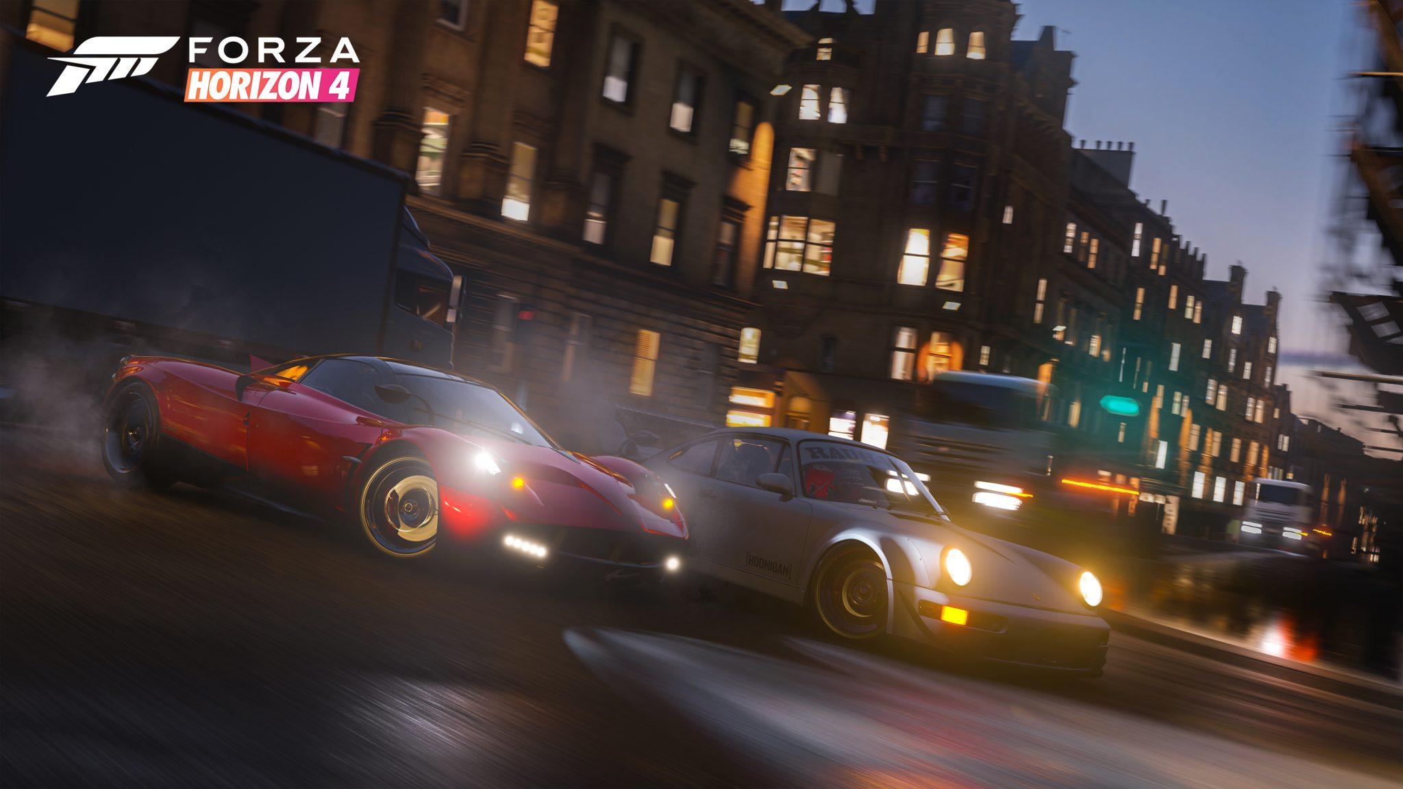Forza Horizon 4 FH4 Xbox One X PC Ultimate Review Test Kritik Titel Nacht