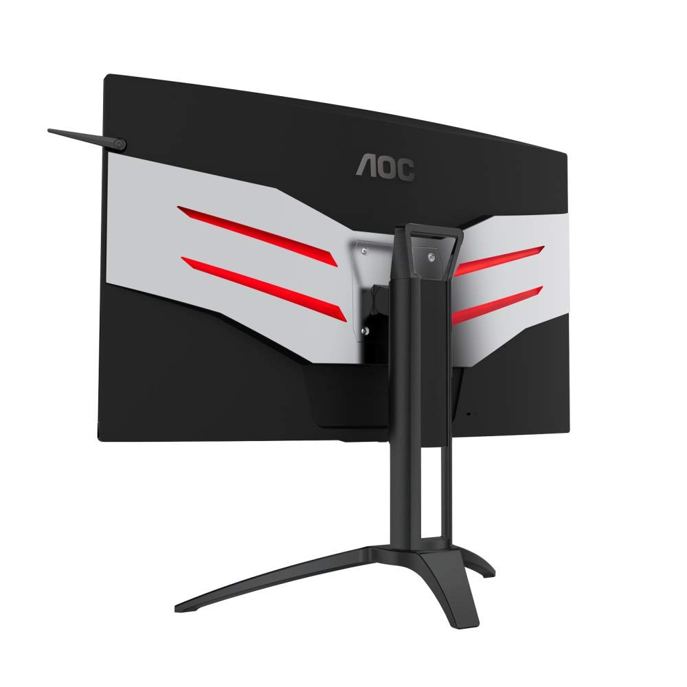 AOC AGON AG322QC4 HDR QHD Gaming Monitor Test Review Kritik Profi Design Back