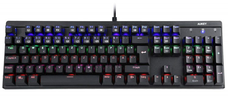 Gaming Tastatur XXL Mauspad Aukey Gamer LED Review Test Kritik Gamer Keyboard