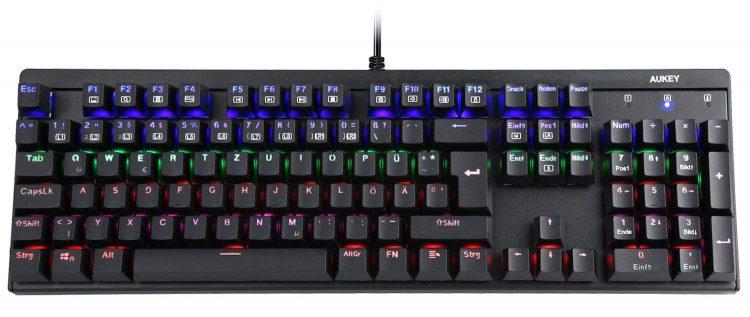Gaming Tastatur XXL Mauspad Aukey Gamer LED Review Test Kritik Gamer Keyboard