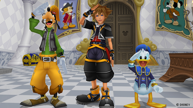 Kingdom Hearts Sora Donald und Goofy