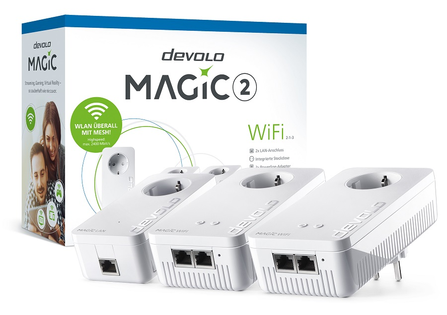 devolo Magic 2 Wifi Dlan Wlan Netwerk Adapter Streaming Gaming Stadia Test Kritik Review 1