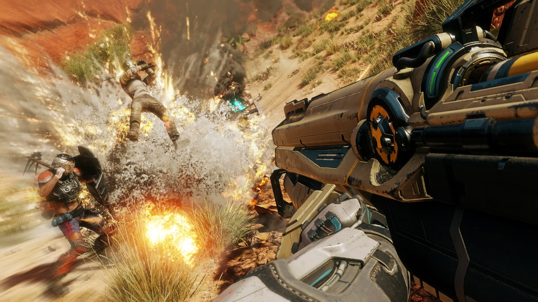 Rage 2 Xbox One X PlayStation 4 Pro PS4 Bethesda id Software Review Avalanche Explosionen