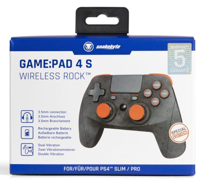 Snakebyte 4s Wireless Rock Game Pad PlayStation 4 Pro Test Review Kritik Bluetooth USB Akku Verpackung