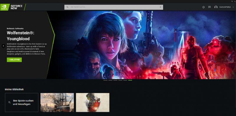 GeForce Now RTX Cloud Gaming Nvidia RTX 2080 Anno 1800 Destiny 2 Beta Stadia Preview Vorschau Einschätzung Oberfläche