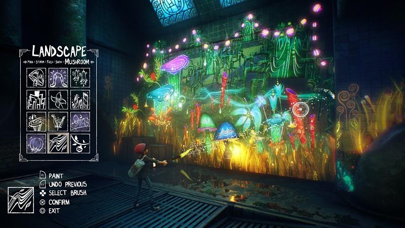Concrete Genie PS4 Pro Test Review Kritik Gefühle in Videospielen PS VR Kunst Art Pixelopus Malen