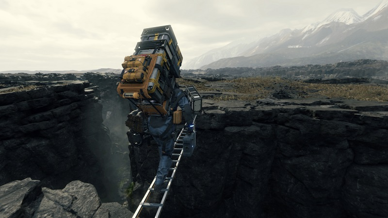 Death Stranding PS4 Pro Review Test Kritik Kojima Productions Hideo Kijima Norman Reedus Mads Mikkelsen LIeferung