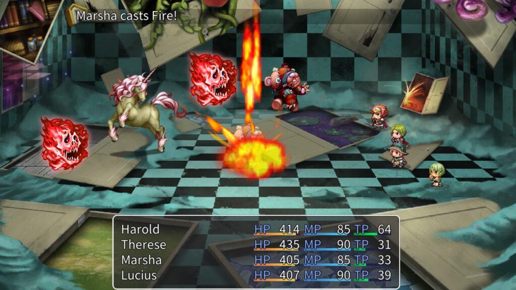 RPG Maker MV Kampf Battle Sceenshot