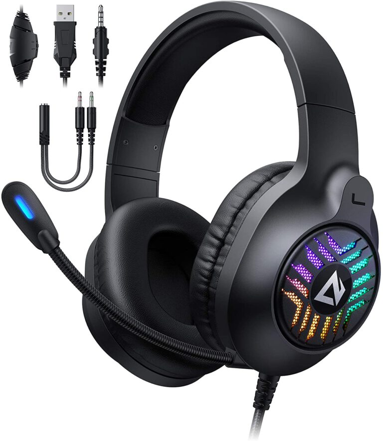 Aukey Gaming Headset test am PC 2020 2021 RGB Karussell 1