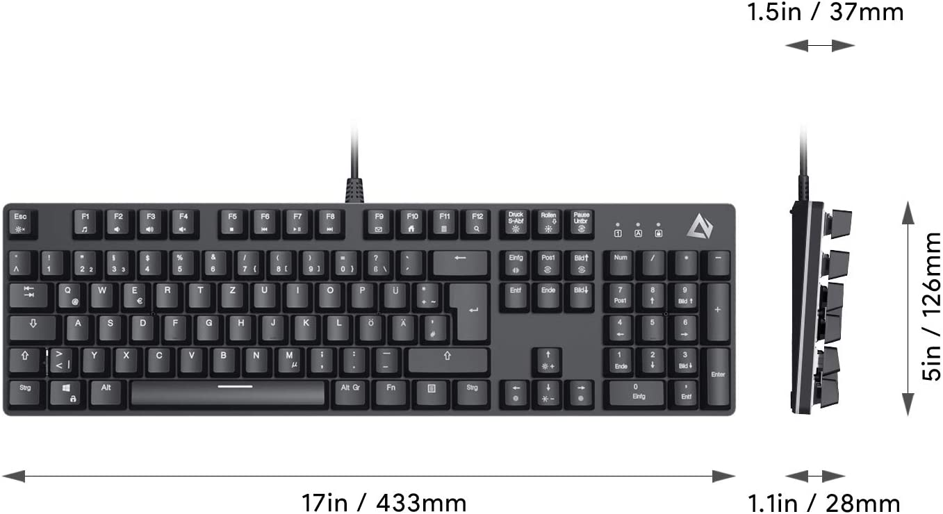 Aukey Gaming-PC-Hardware KM-G12 RGB-Gaming-Tastatur