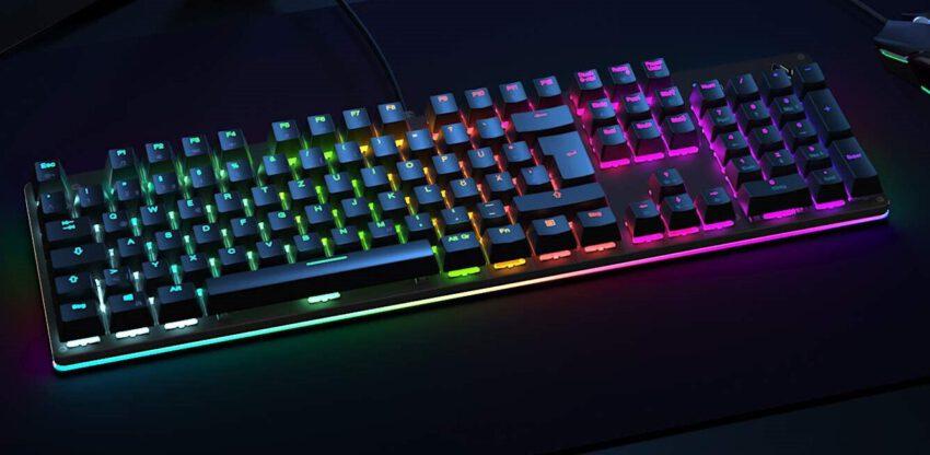 Aukey Gaming-PC-Hardware KM-G12 RGB-Gaming-Tastatur leuchtend