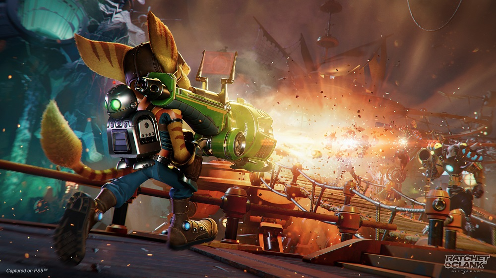 Ratchet & Clank Rift Apart Ratchet and Clank Rift Apart Review Test Kritik PlayStation 5 PS5 Partikel